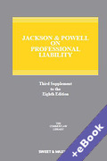 Cover of Jackson & Powell on Professional Liability 8th edition: 3rd Supplement (Book & eBook Pack)