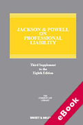 Cover of Jackson & Powell on Professional Liability 8th edition: 3rd Supplement (eBook)