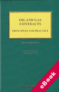 Cover of Oil and Gas Contracts: Principles and Practice (eBook)