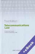 Cover of Telecommunications Law (Book & eBook Pack)