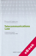 Cover of Telecommunications Law (eBook)