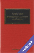Cover of Arnould's Law of Marine Insurance and Average: 19th ed with 2nd ed Supplement (Book & eBook Pack)