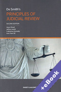 Cover of De Smith's Principles of Judicial Review (Book & eBook Pack)