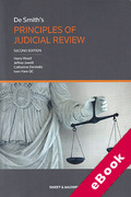 Cover of De Smith's Principles of Judicial Review (eBook)
