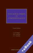Cover of Toulson & Phipps on Confidentiality (Book & eBook Pack)