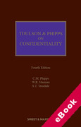Cover of Toulson & Phipps on Confidentiality (eBook)