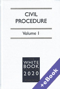 Cover of The White Book Service 2020: Civil Procedure Volume 1 only (Book & eBook Pack)