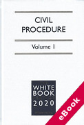 Cover of The White Book Service 2020: Civil Procedure Volume 1 only (eBook)