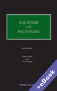 Cover of Salinger on Factoring: The Law and Practice of Invoice Financing (Book & eBook Pack)