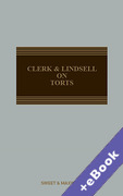 Cover of Clerk & Lindsell On Torts (Book & eBook Pack)