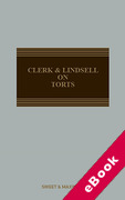Cover of Clerk & Lindsell On Torts (eBook)