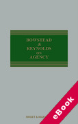 Cover of Bowstead & Reynolds On Agency (eBook)