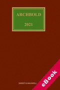 Cover of Archbold: Criminal Pleading, Evidence and Practice 2021 (eBook)