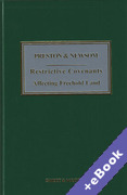 Cover of Preston & Newsom: Restrictive Covenants Affecting Freehold Land (Book & eBook Pack)