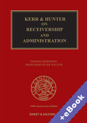 Cover of Kerr & Hunter on Receivers and Administrators (Book & eBook Pack)