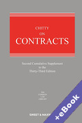 Cover of Chitty on Contracts 33rd ed: 2nd Supplement (Book & eBook Pack)