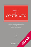 Cover of Chitty on Contracts 33rd ed: 2nd Supplement (eBook)