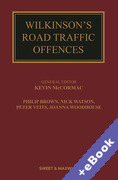 Cover of Wilkinson's Road Traffic Offences 29ed with 2nd Supplement (Book & eBook Pack)