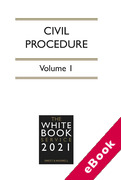 Cover of The White Book Service 2021: Civil Procedure Volume 1 only (eBook)