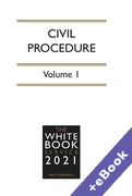Cover of The White Book Service 2021: Civil Procedure Volume 1 only (Book & eBook Pack)