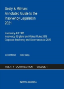 Cover of Sealy & Milman: Annotated Guide to the Insolvency Legislation 2021: Volume 1