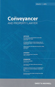Cover of The Conveyancer and Property Lawyer: Issues Only