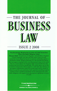 Cover of The Journal of Business Law: Issues and Bound Volume