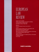Cover of European Law Review: Issues and Bound Volume