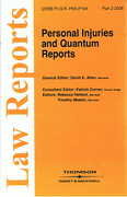 Cover of Personal Injuries and Quantum Reports: Issues and Bound Volume
