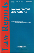 Cover of Environmental Law Reports: Issues and Bound Volume