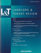 Cover of Landlord and Tenant Law Review: Issues and Bound Volume