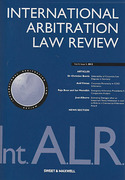 Cover of International Arbitration Law Review: Issues and Bound Volume