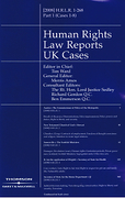 Cover of Human Rights Law Reports UK Cases: Issues Only