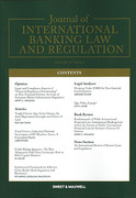 Cover of Journal of International Banking Law and Regulation: Issues Only