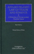 Cover of Applied Islamic Law of Trade and Finance: A Selection of Contemporary Practical Issues