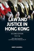 Cover of Law and Justice in Hong Kong