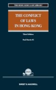 Cover of The Conflict of Laws in Hong Kong