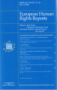 Cover of European Human Rights Reports: Issues and Bound Volume