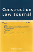 Cover of Construction Law Journal: Issues Only