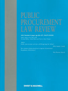 Cover of Public Procurement Law Review: Issues Only
