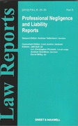 Cover of Professional Negligence and Liability Reports: Issues and Bound Volume
