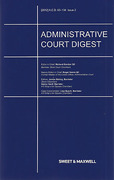 Cover of Administrative Court Digest: Issues and Bound Volume