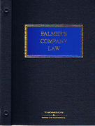 Cover of Palmer's Company Law Looseleaf with CD-ROM