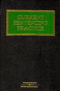 Cover of Current Sentencing Practice Looseleaf