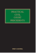 Cover of Practical Civil Court Precedents Looseleaf