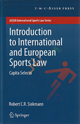 Cover of Introduction to International and European Sports Law