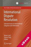 Cover of International Dispute Resolution: Selected Issues in International Litigation and Arbitration (eBook)