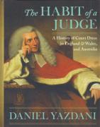 Cover of The Habit of a Judge: A History of Court Dress in England & Wales
