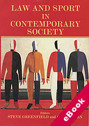 Cover of Law and Sport in Contemporary Society (eBook)