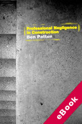 Cover of Professional Negligence in Construction (eBook)